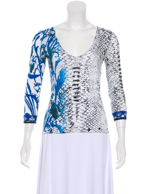 Emilio Pucci Animal Print Scoop Neck Top