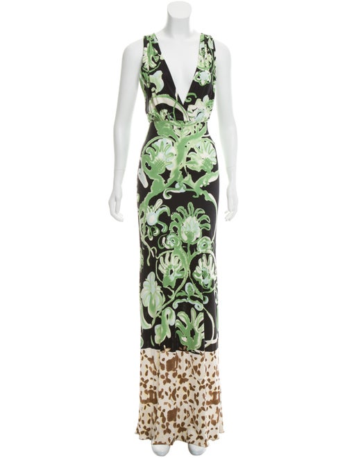 Emilio Pucci Abstract Print Maxi Dress Black