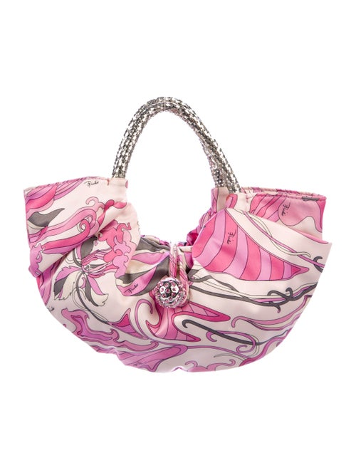 Emilio Pucci Satin Print Handle Bag Pink