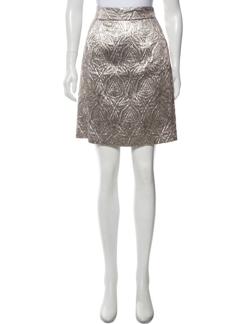 Emilio Pucci Metallic Jacquard Skirt Metallic