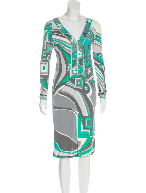 Emilio Pucci Abstract Print Dress Green
