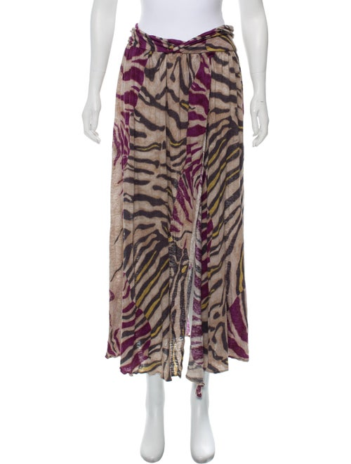 Emilio Pucci Linen Abstract Print Skirt violet
