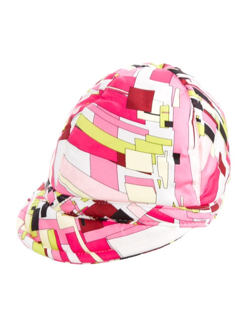 Emilio Pucci Abstract Print Hat Pink
