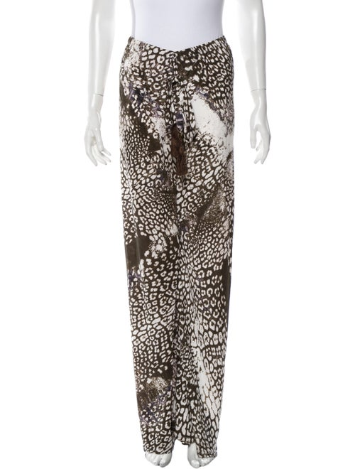 Emilio Pucci Animal Print Wide Leg Pants