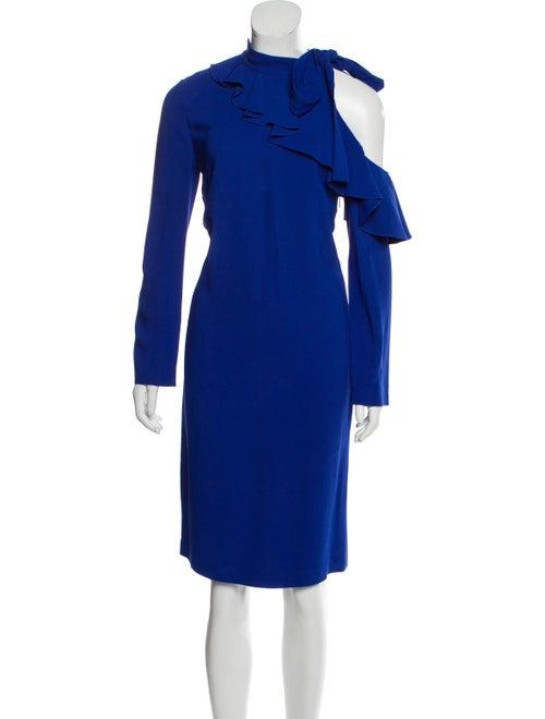 Emilio Pucci Cold-Shoulder Ruffle-Accented Dress
