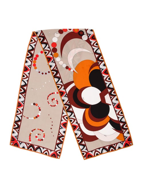 Emilio Pucci Abstract Woven Scarf