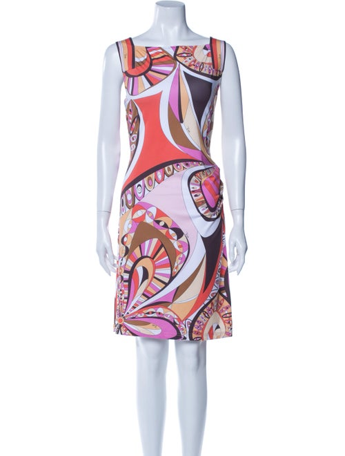 Emilio Pucci Silk Mini Dress Orange