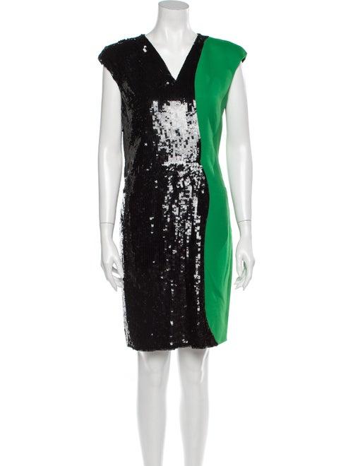Emilio Pucci Silk Mini Dress Green