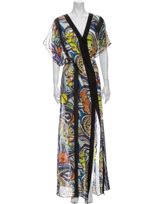 Emilio Pucci Printed Long Dress Blue