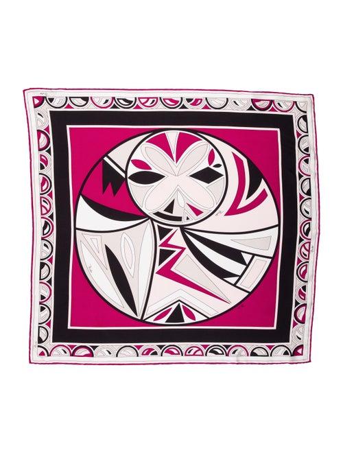 Emilio Pucci Abstract Silk Scarf Magenta