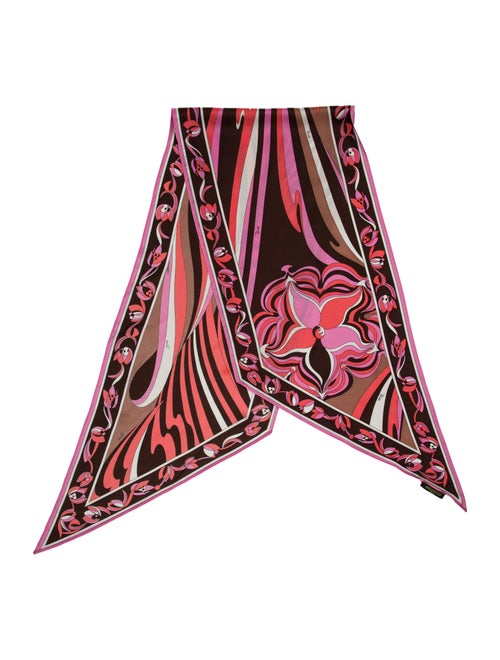 Emilio Pucci Silk Printed Twilly Pink