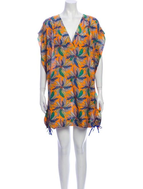 Emilio Pucci Silk Mini Dress Orange
