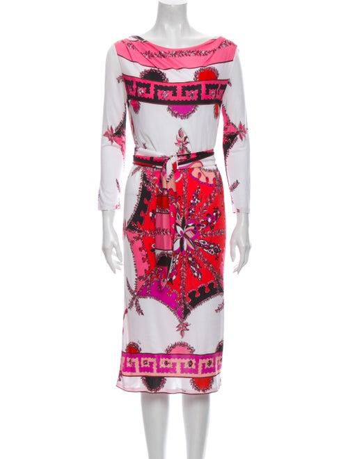 Emilio Pucci Printed Midi Length Dress