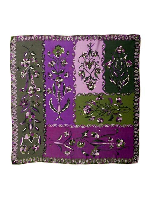 Emilio Pucci Silk Printed Scarf Purple