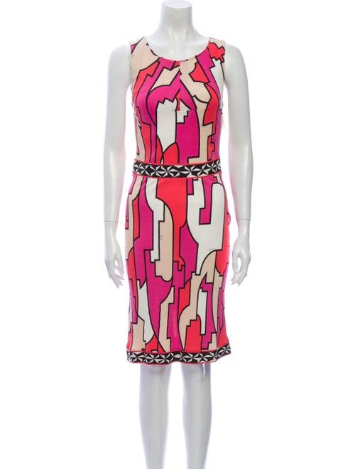 Emilio Pucci Printed Knee-Length Dress