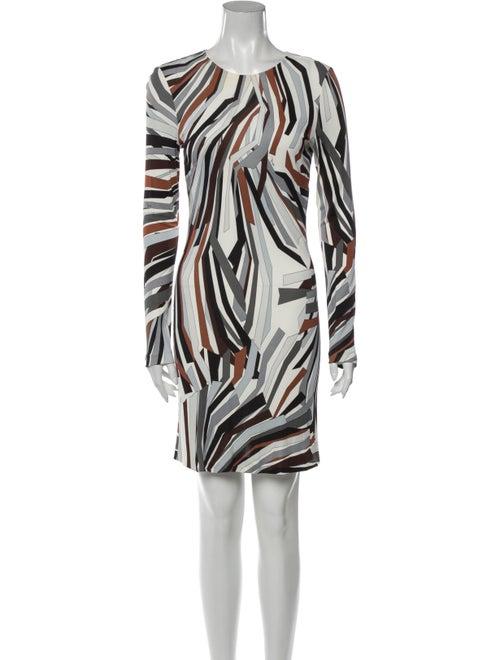 Emilio Pucci Printed Mini Dress White