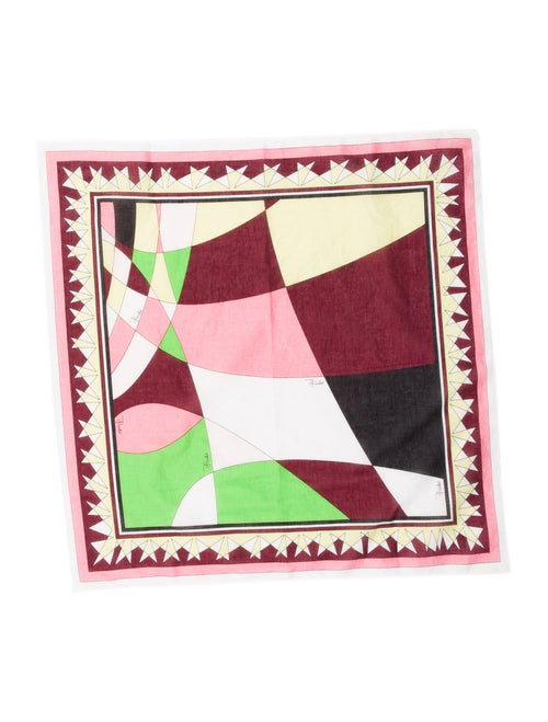 Emilio Pucci Woven Printed Scarf Pink