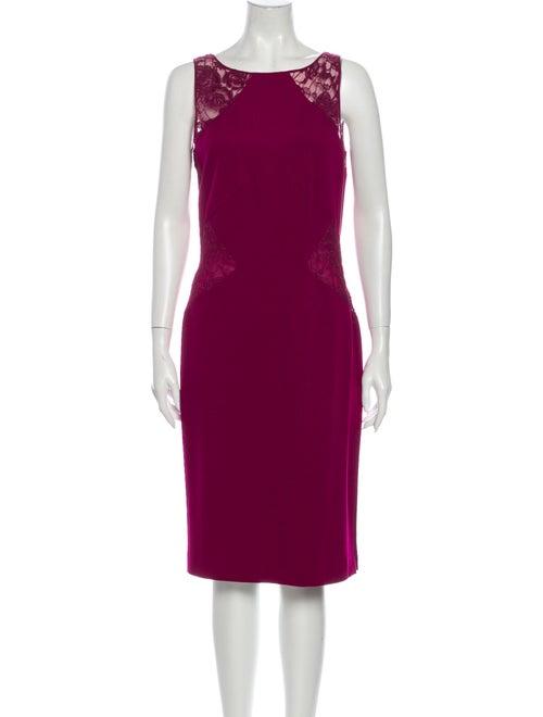 Emilio Pucci Bateau Neckline Knee-Length Dress Pur