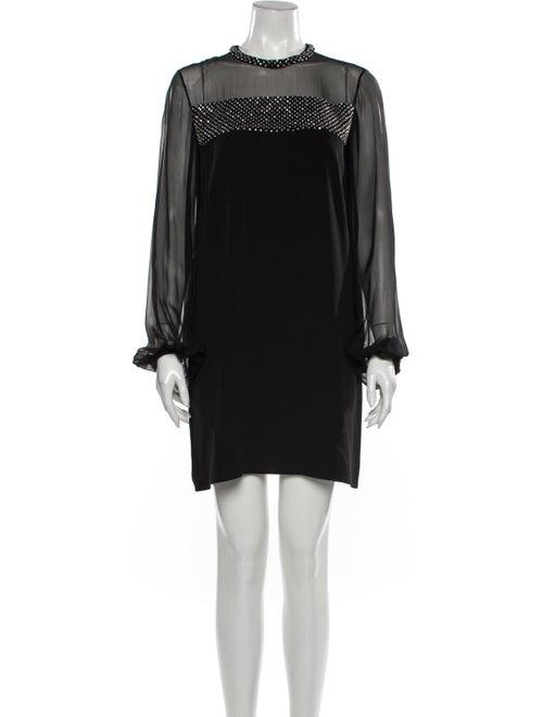 Emilio Pucci Silk Mini Dress Black