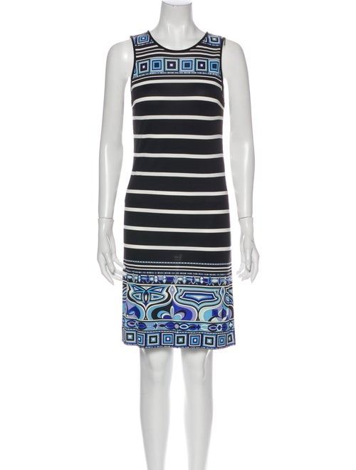 Emilio Pucci Striped Mini Dress Black