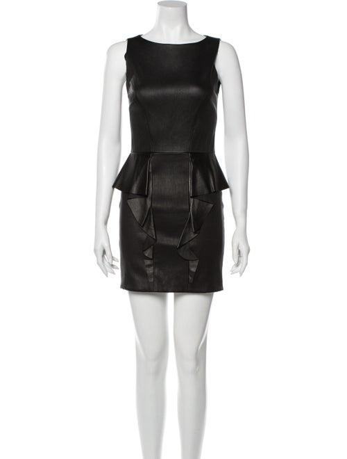 Emilio Pucci Scoop Neck Mini Dress Black
