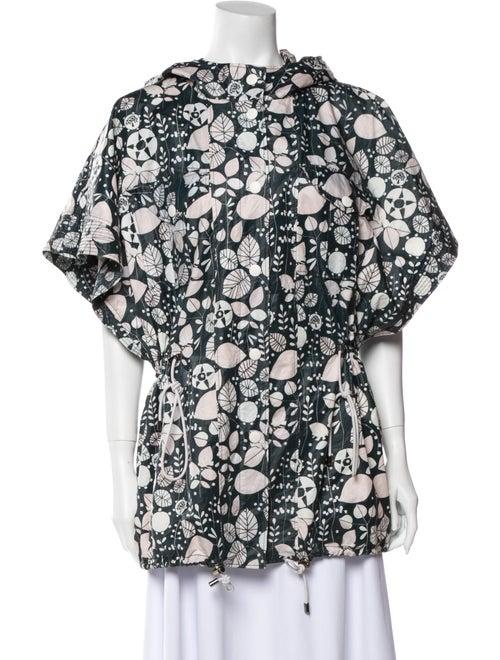 Emilio Pucci Floral Print Jacket Green