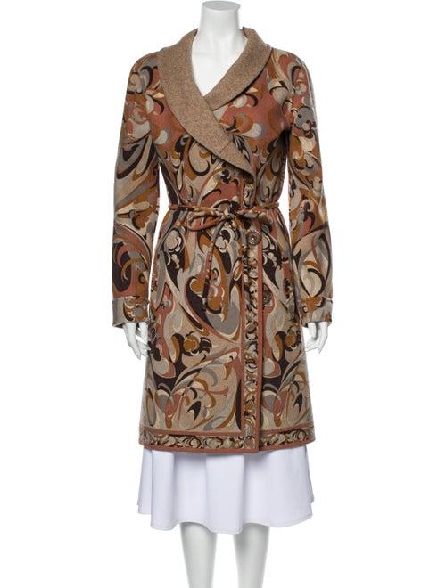 Emilio Pucci Cashmere Paisley Print Coat