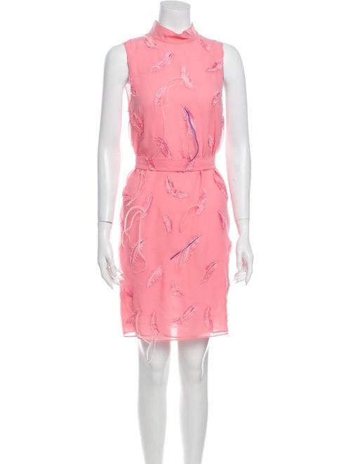Emilio Pucci Floral Print Mini Dress Pink