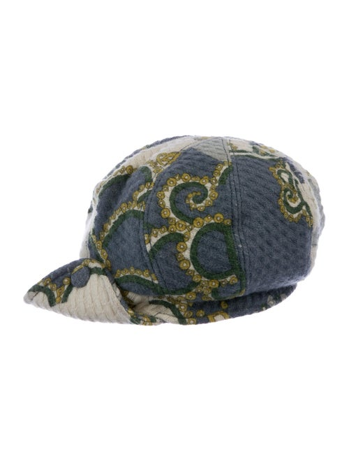 Emilio Pucci Wool Newsboy Hat multicolor