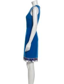 Emilio Pucci Crew Neck Mini Dress