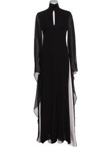 Emilio Pucci Mock Neck Long Dress