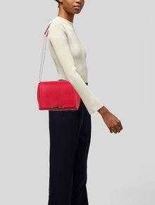 Emilio Pucci Grained Leather Flap Shoulder Bag