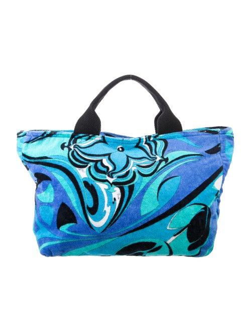 Emilio Pucci Terrycloth Beach Tote Blue
