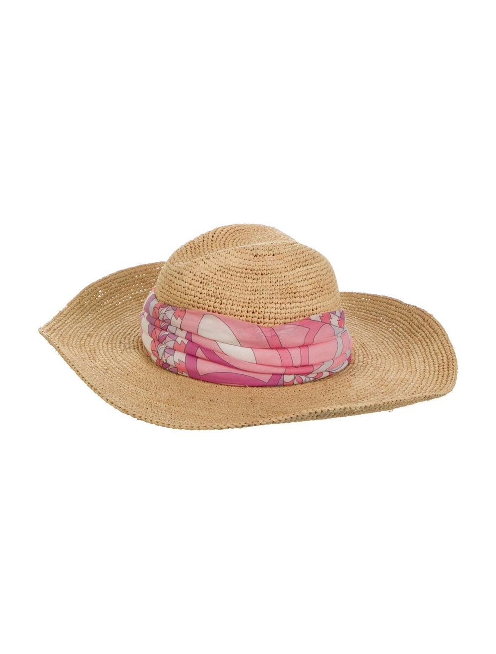 Emilio Pucci Wide Brim Straw Hat Tan - image 1