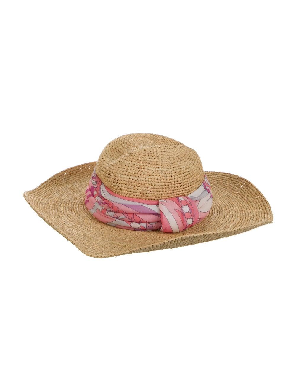 Emilio Pucci Wide Brim Straw Hat Tan - image 2