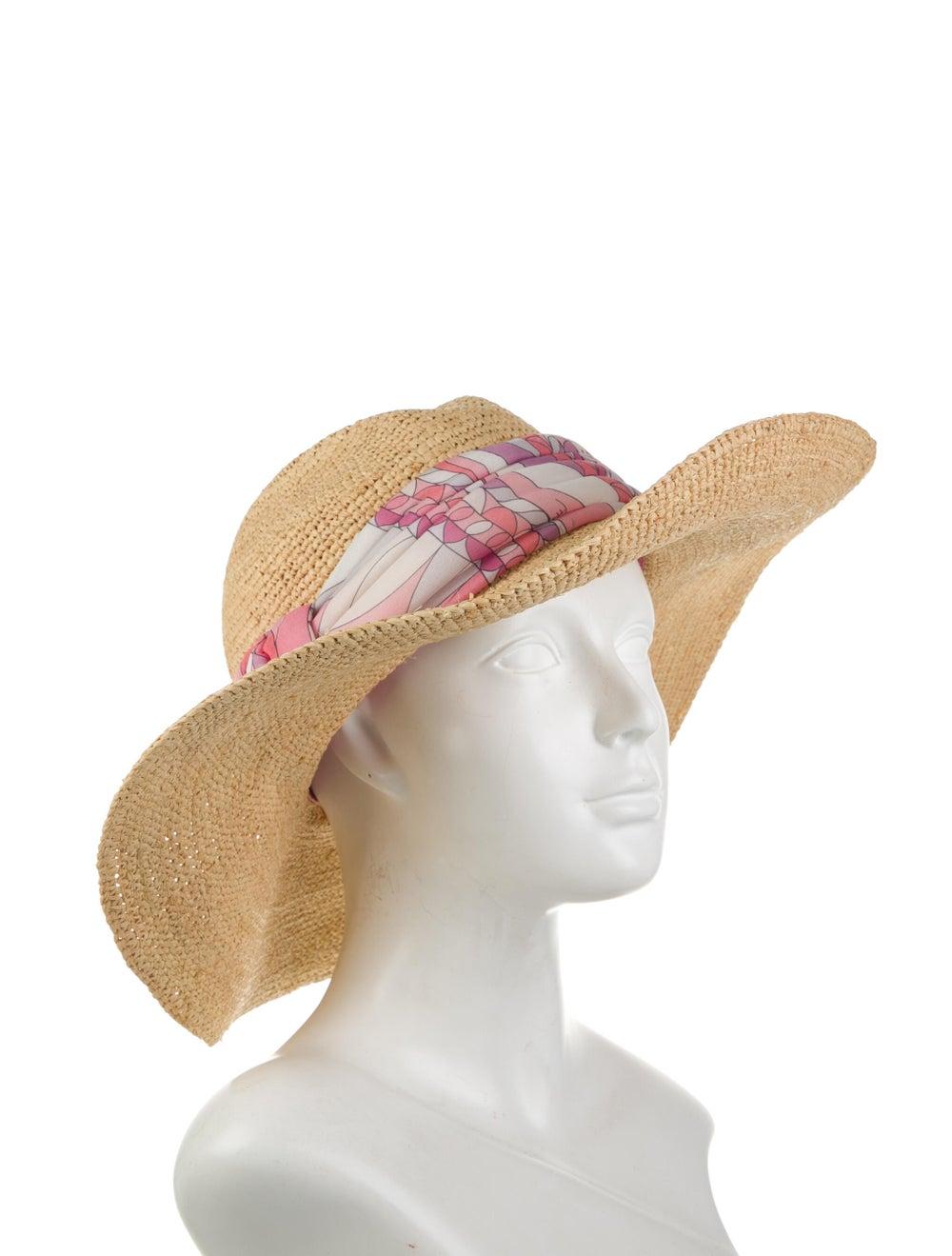 Emilio Pucci Wide Brim Straw Hat Tan - image 3