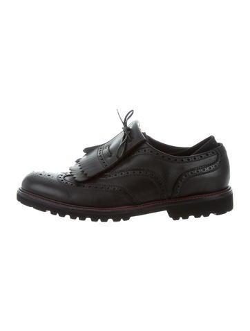 Emporio Armani Leather Kiltie Brogues None