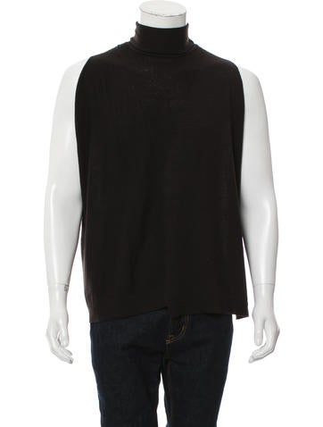 Emporio Armani Sleeveless Virgin Wool Sweater None