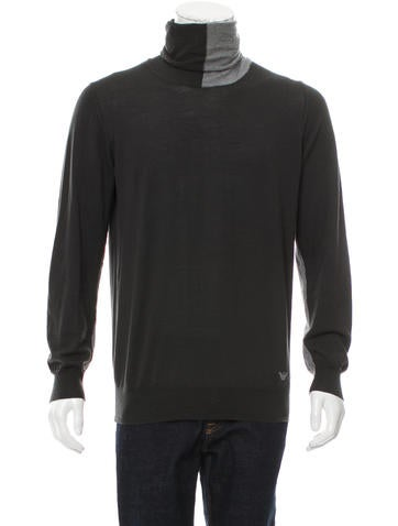 Emporio Armani Wool Turtleneck Sweater None