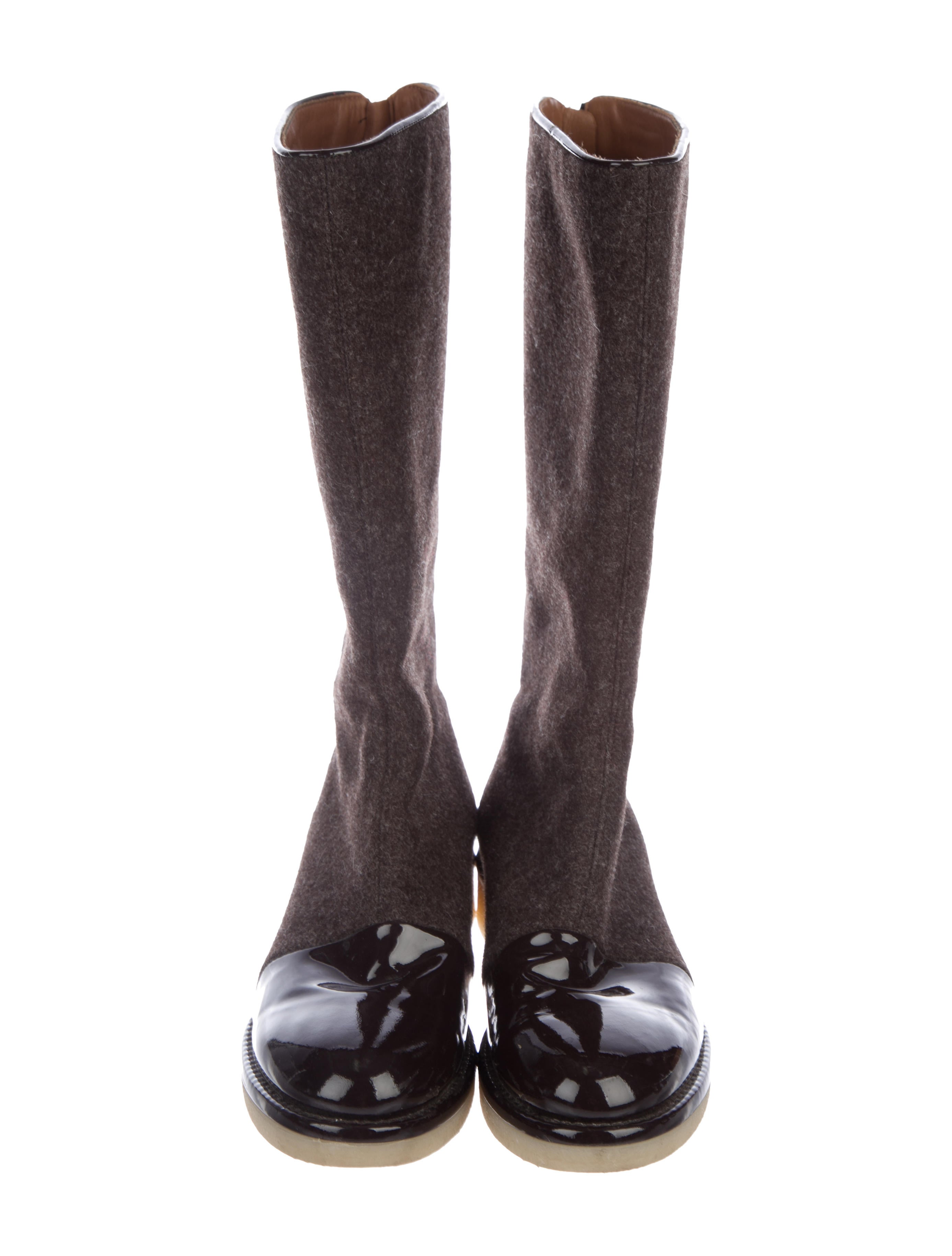 Emporio Armani Round-Toe Mid-Calf Boots professional cheap price for sale buy authentic online outlet for sale buy cheap find great yk5u9