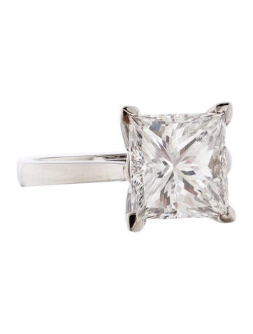 4.13ct Princess Cut