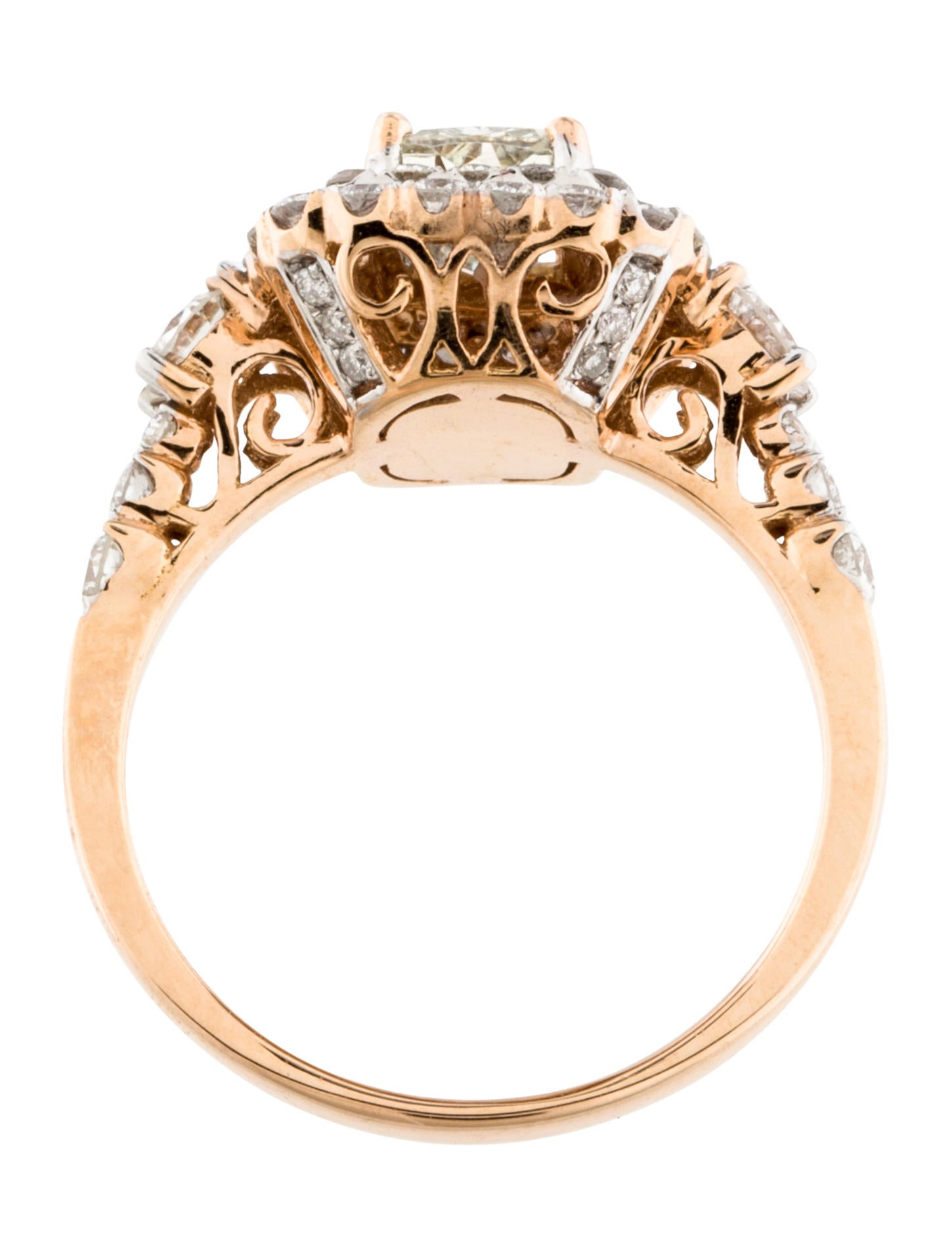 18k diamond double halo engagement ring rings. Black Bedroom Furniture Sets. Home Design Ideas