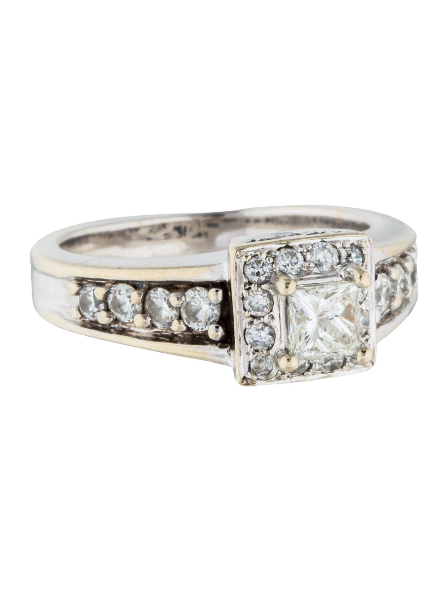 14k princess cut engagement ring rings