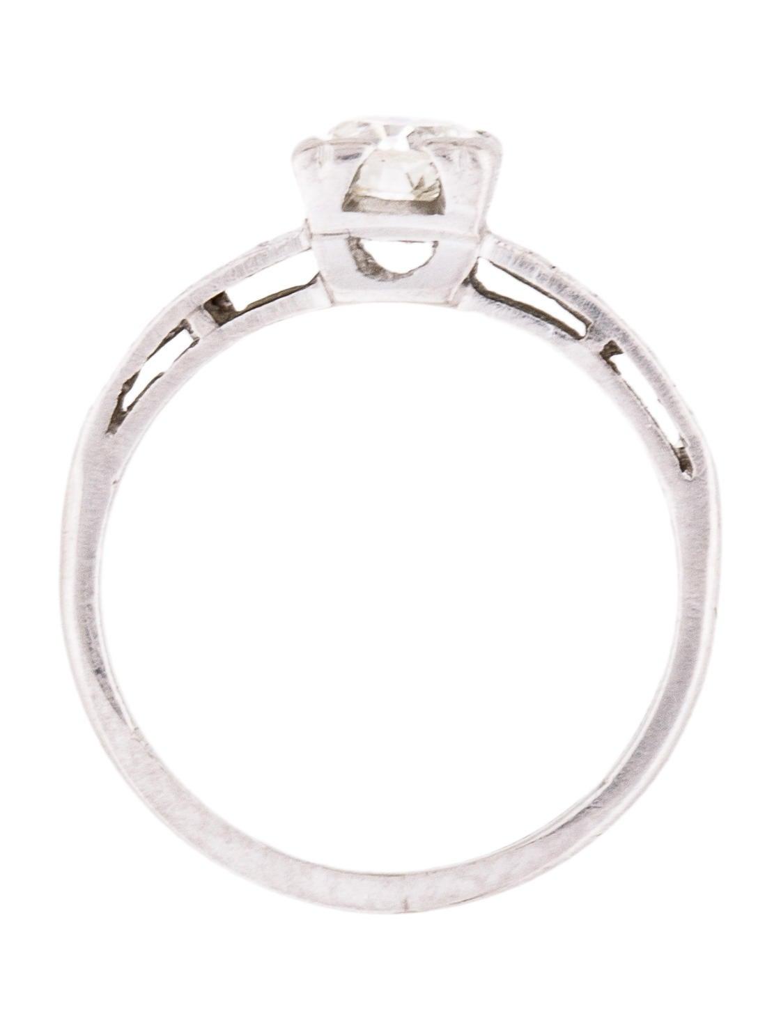 engagement ring vintage platinum diamond engagement ring rings engri20523 the realreal. Black Bedroom Furniture Sets. Home Design Ideas