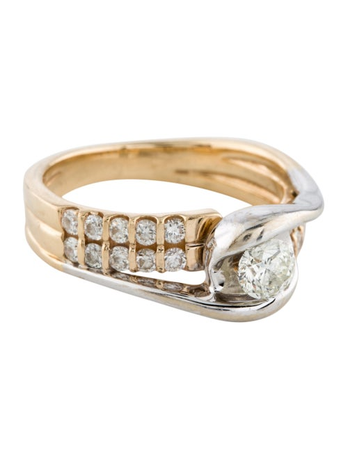 Sirena Diamond Two-Tone Engagement Ring yellow