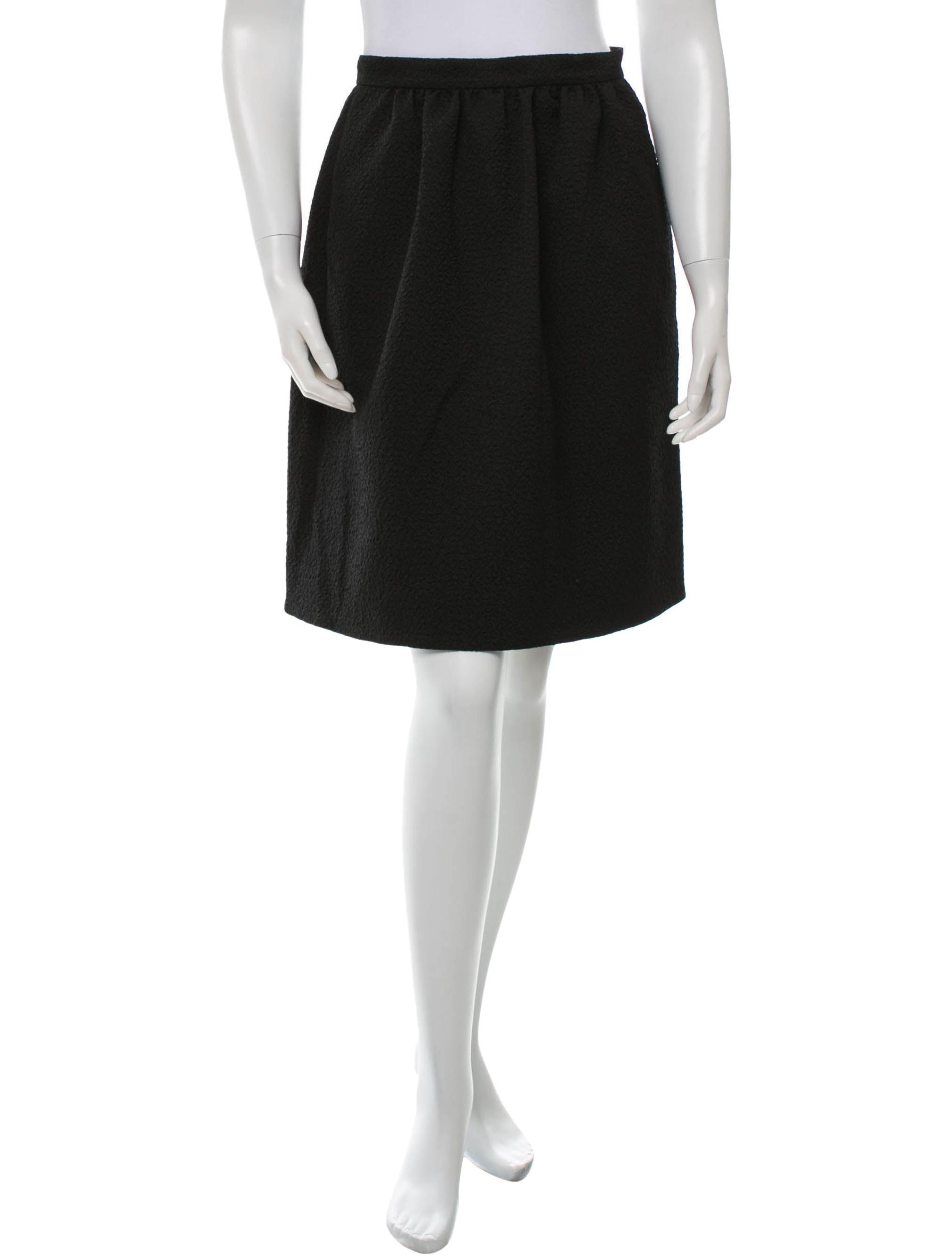 erdem textured midi skirt clothing erd21313 the realreal