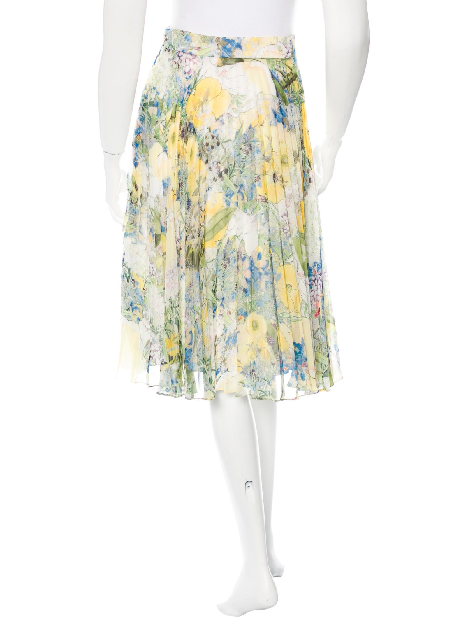 erdem pleated floral print skirt clothing erd21655