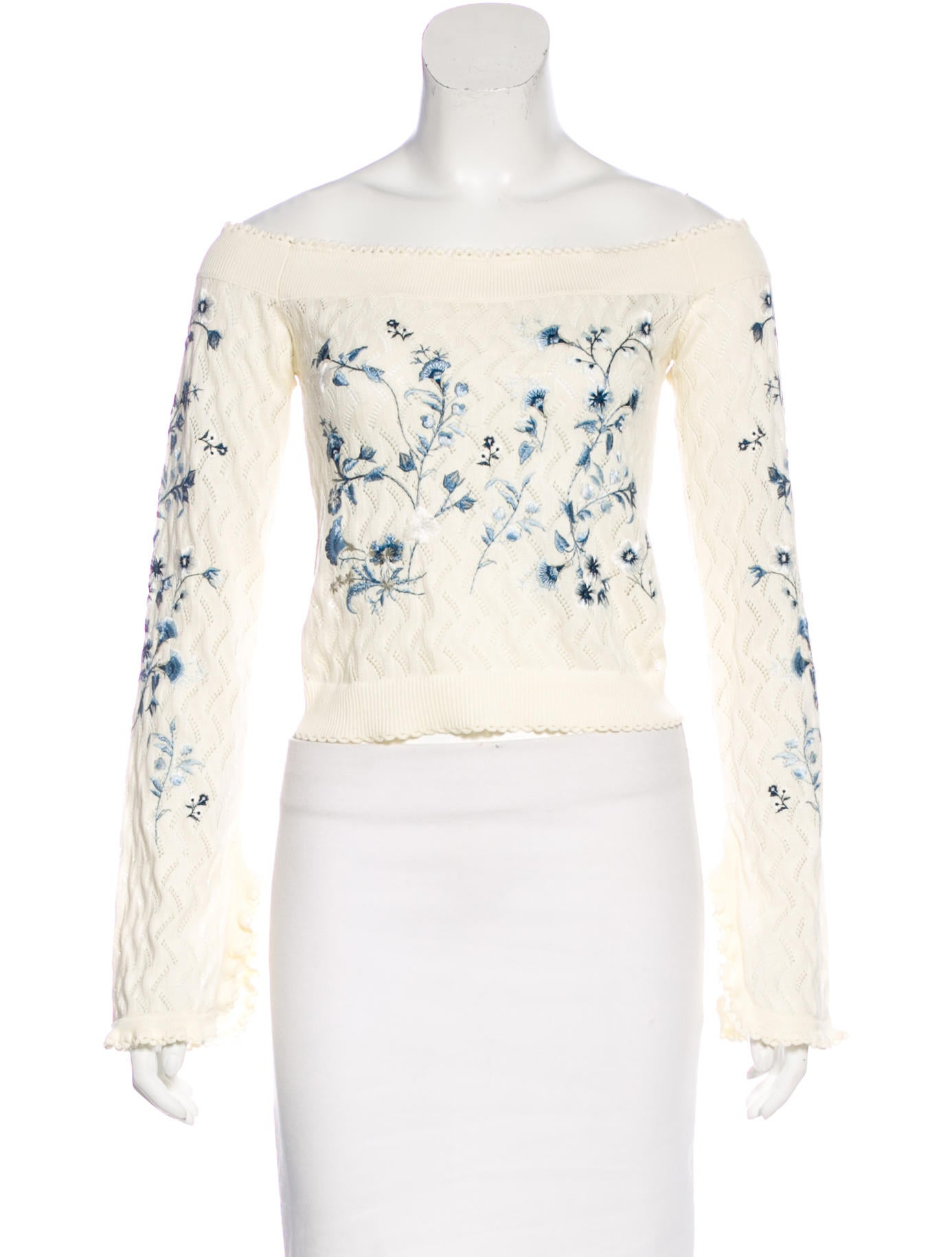 Erdem embroidered off the shoulder top w tags clothing
