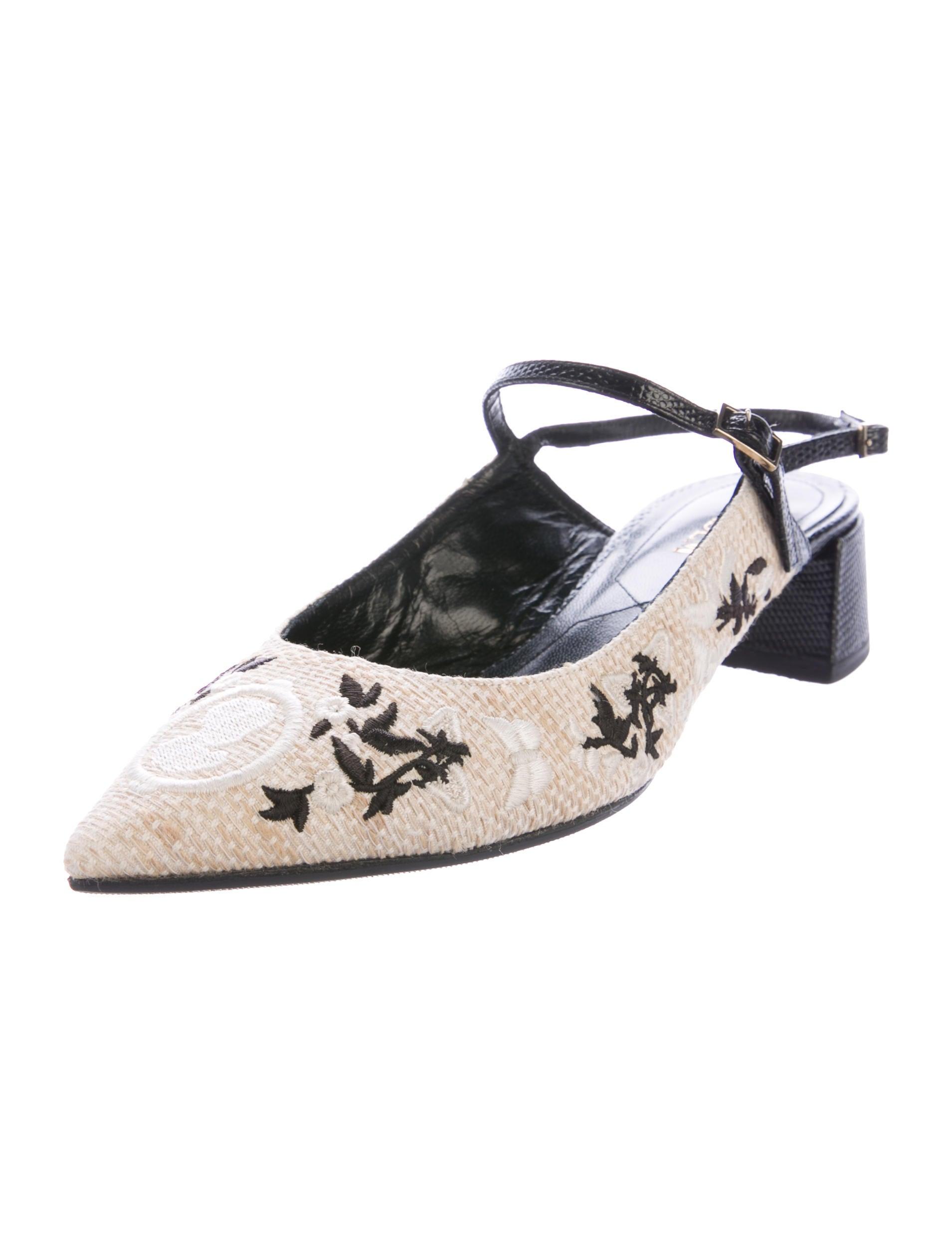 Erdem Embroidered Aerin Pumps - Shoes