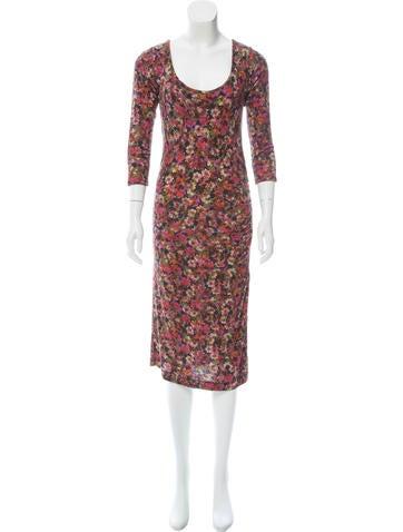 Erdem Floral Midi Dress None